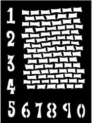 "DYS38405 Ranger Dylusions Stencil - 9""x12"" Staggered Brickwork"